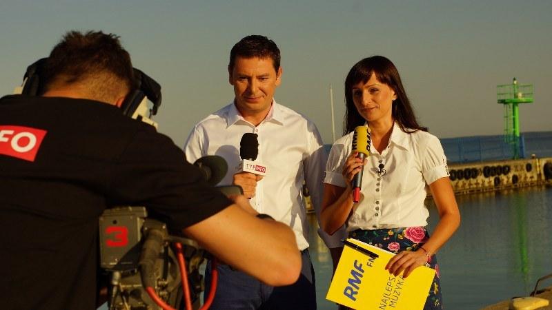 Magdalena Wojtoń i Michał Adamczyk /Michał Dukaczewski /RMF FM