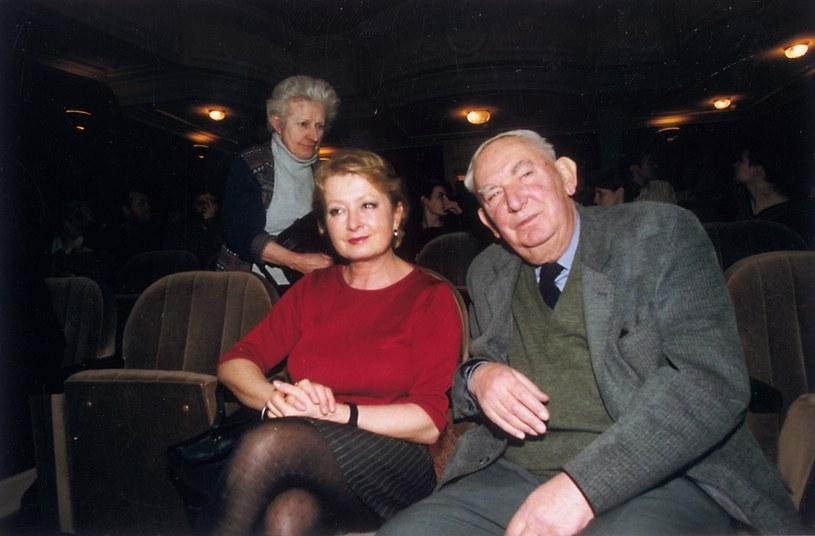 Magdalena Zawadzka i Gustaw Holoubek /- /AKPA