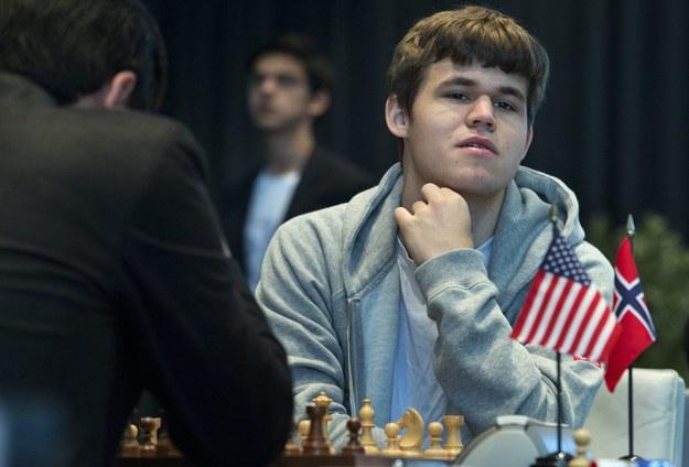 Magnus Carlsen szachowy mistrz świata /LUKAS LEHMANN /PAP/EPA