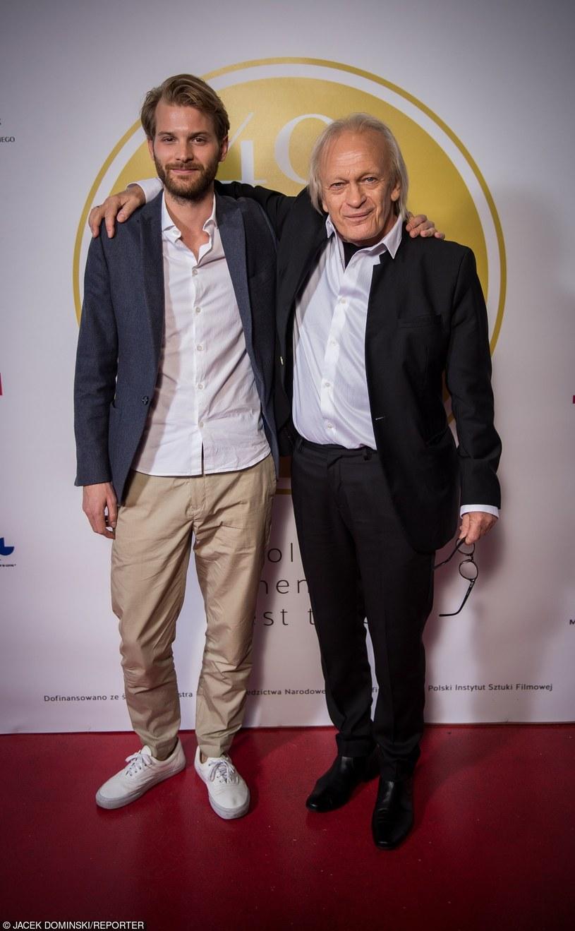 Magnus von Horn i Wiesław Komasa podczas Festiwalu Filmowego w Gdyni /Jacek Domiński /Reporter