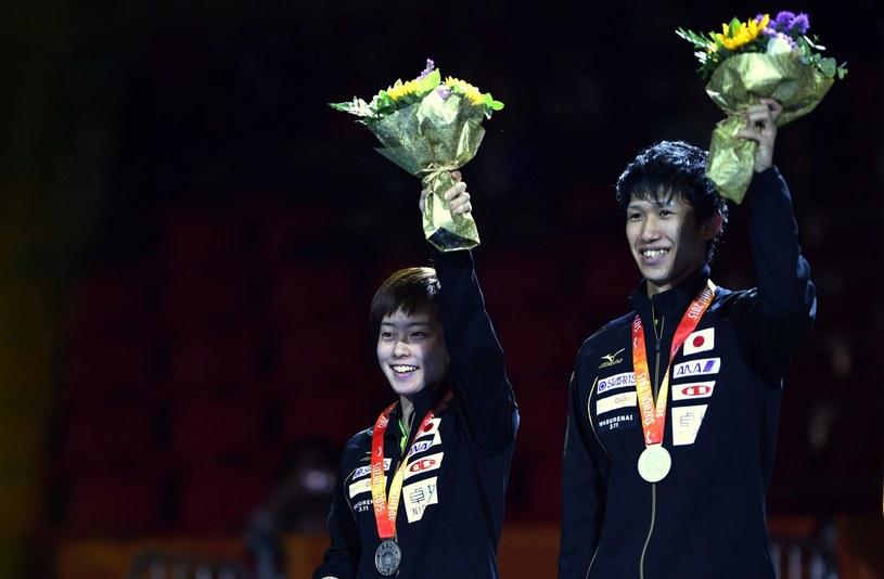 Maharu Yoshimura i Kasumi Ishikawa na podium /AFP