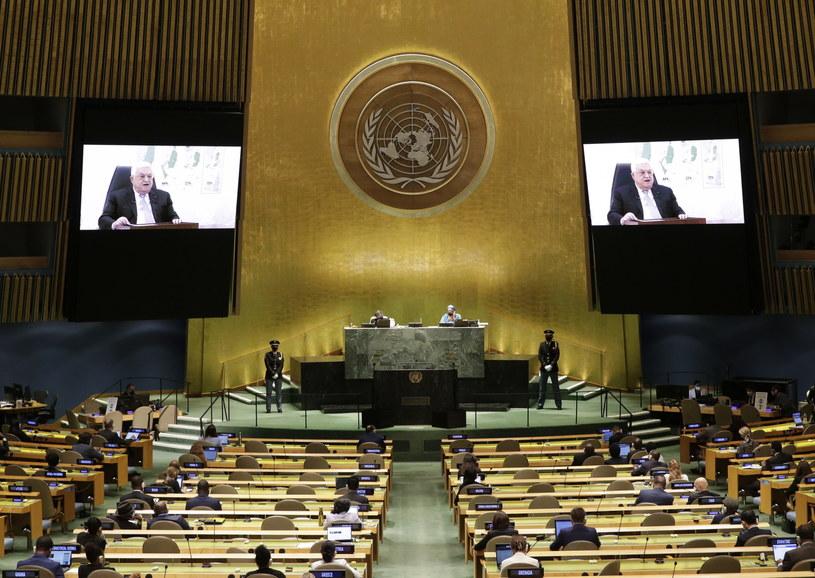 Mahmud Abbas przed Zgromadzeniem Ogólnym ONZ /JOHN ANGELILLO / POOL /PAP/EPA