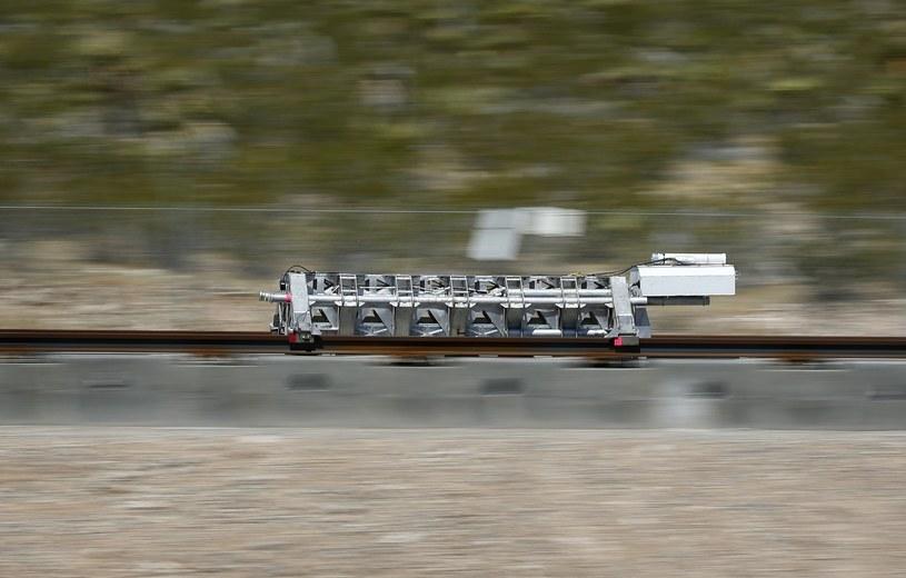 Maj 2016 r. Testy jednego z prototypów hyperloop w okolicy Las Vegas /East News