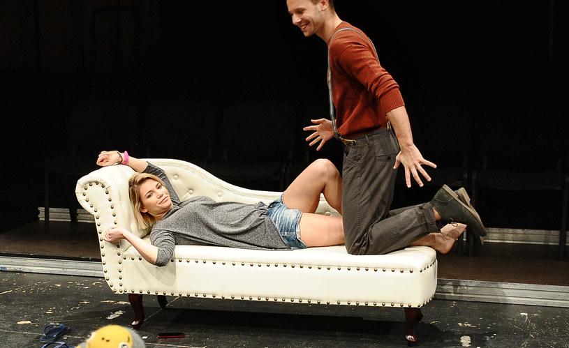 Maja Bohosiewicz w teatrze, na zdj. z Mateuszem Banasiukiem /Andras Szilagyi /MWMedia