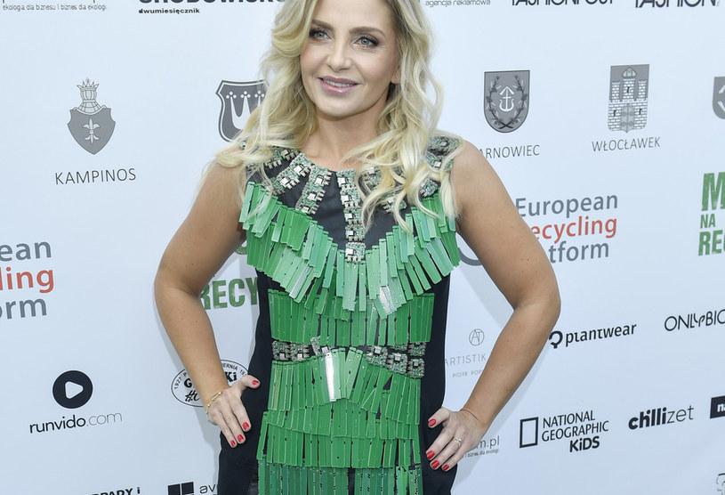 Maja Frykowska na pokazie mody recyklingowej / Mieszko Piętka /AKPA
