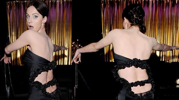 Maja Hirsch zaskoczyła wszystkich rozmiarem swojego dekoltu na plecach /Agencja W. Impact
