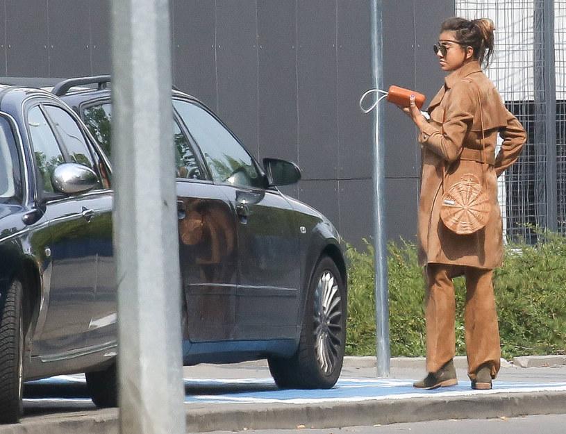 Maja Hyży zaparkowała na miejscu dla niepełnosprawnych /Newspix