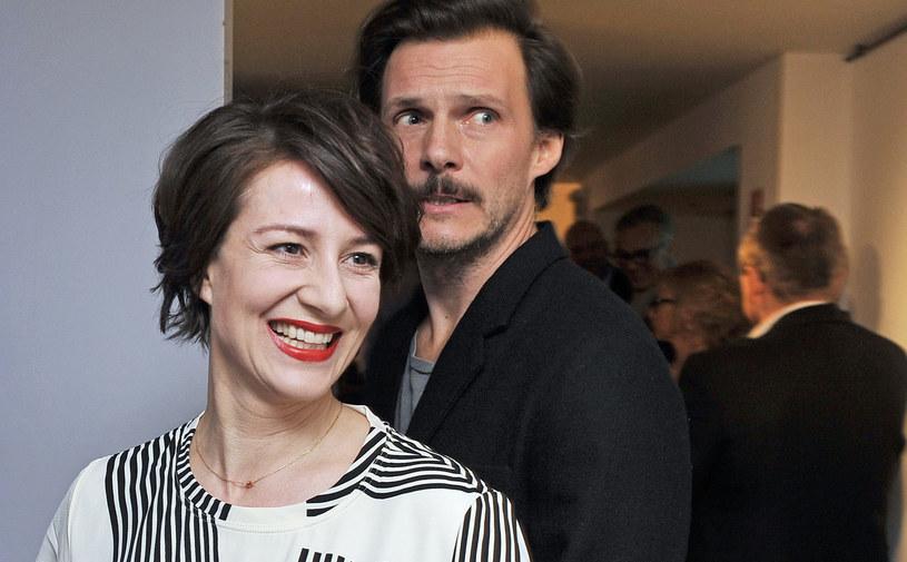 Maja Ostaszewska z partnerem Michałem Englertem /Niemiec /AKPA
