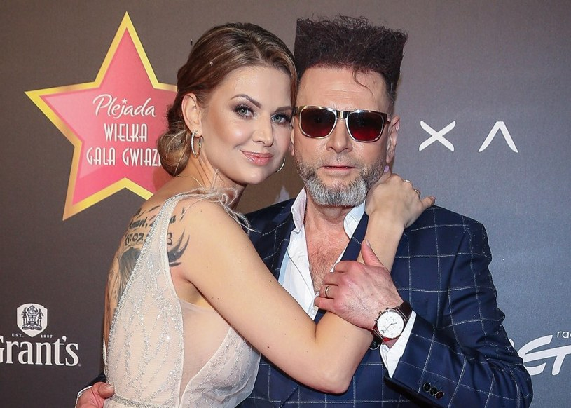 Maja Plich i Krzysztof Rutkowski podczas Wielkiej Gali Gwiazd Plejady 2019 /Kamil Piklikiewicz /East News