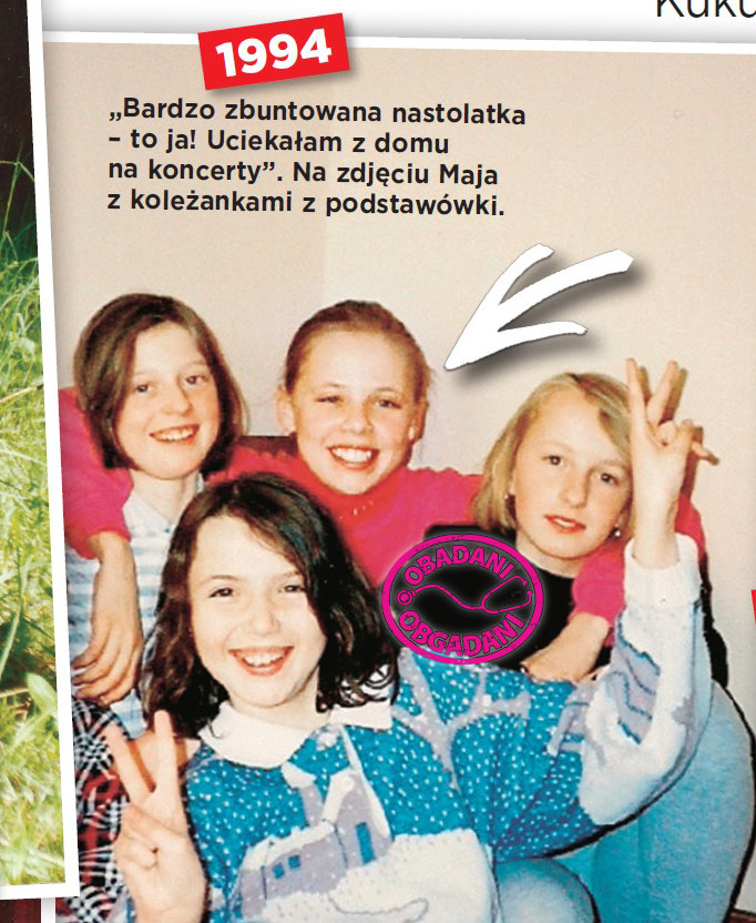 Maja Sablewska z przyjaciółkami - 1994 r. /Show