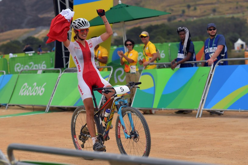 Maja Włoszczowska na mecie wyścigu /AFP