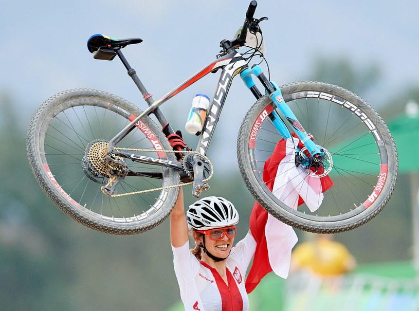 Maja Włoszczowska po raz drugi w karierze została wicemistrzynią olimpijską /Fot. Adam Warżawa /PAP