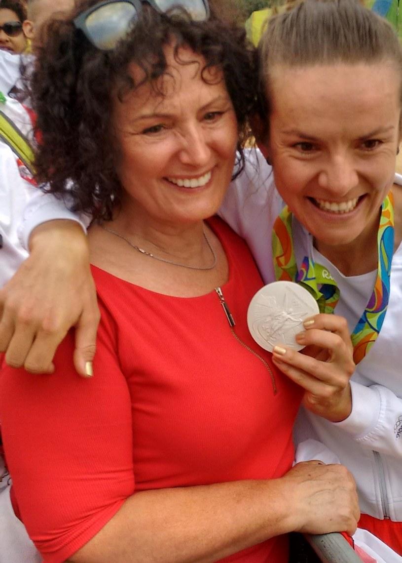 Maja Włoszczowska z mamą Ewą /Fot. Mirosław Ząbkiewicz /INTERIA.PL