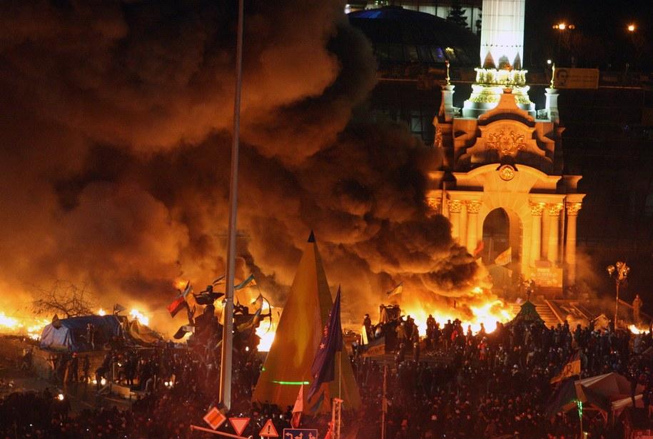 Majdan w ogniu /IGOR KOVALENKO /PAP/EPA