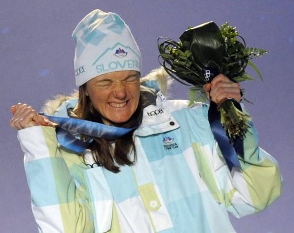Majdić mimo bolesnego upadku zdobyła brązowy medal /AFP