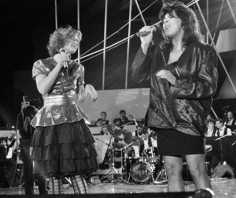 Majka Jeżowska i Krystyna Prońko na festiwalu w Opolu w 1986 roku /Jacek Barcz /Agencja FORUM