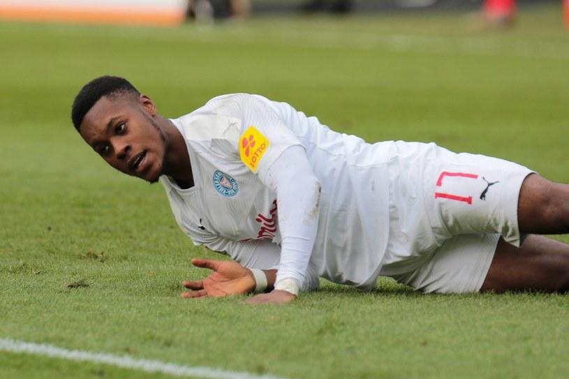 Makana Baku w meczu Holstein Kilonia - Wehen Wiesbaden /EXPA/Eibner-Pressefoto/KOCH /Newspix