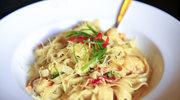 Makaron wstążki z cytrynowo-serowym sosem