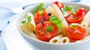 Makaron z pomidorami i musztardą