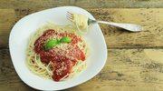Makaron z sosem pomidorowo-imbirowym
