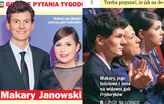 Makary Janowski i Monika Borzym /Życie na gorąco