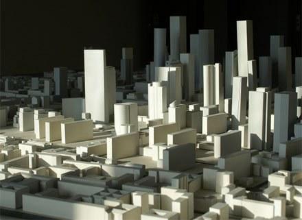 """Makieta pokazuje architektoniczną rzeczywistość Warszawy, nie """"oszukuje""""/fot.  Miasto Forma /krosno24.pl"""