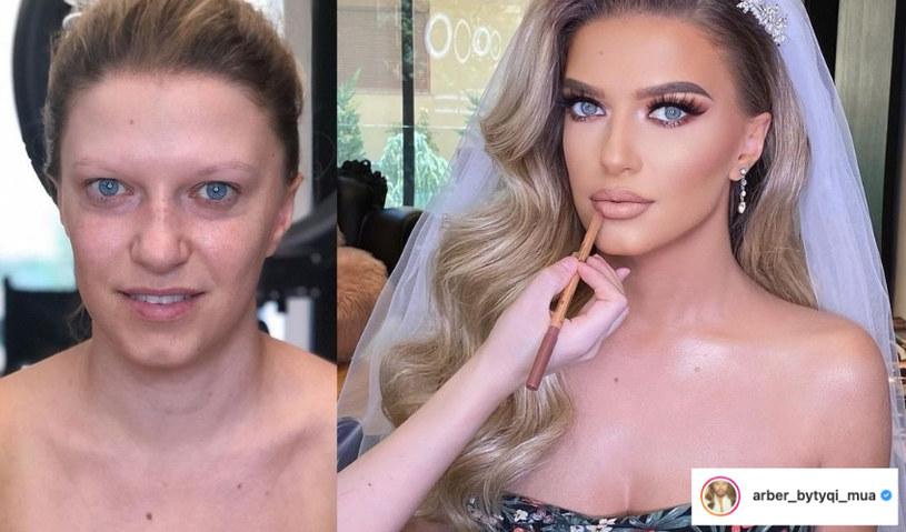 Makijaż ślubny musi być piękny, a zarazem trwały /instagram.com/arber_bytyqi_mua /Instagram