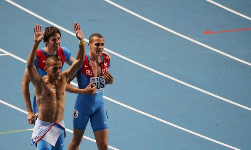 Maksym Dyłdin (z lewej) /AFP