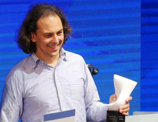 Maksym Radziwiłł po odebraniu Nagrody Banacha /Grzegorz Jasiński /RMF FM