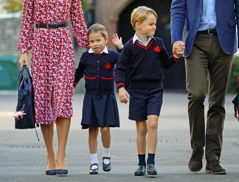 Mała Charlotte rozpoczęła szkołę we wrześniu ubiegłego roku /Getty Images