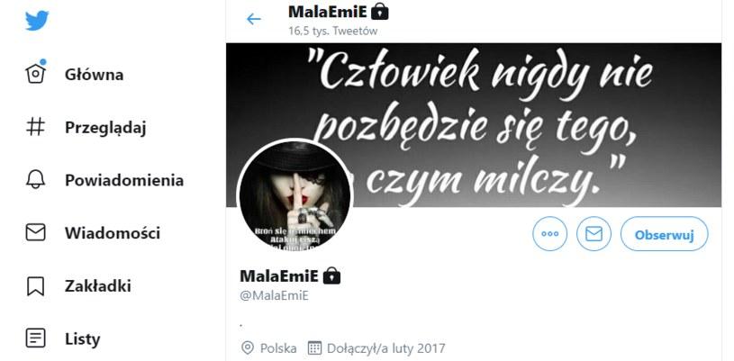 """""""Mała Emi"""" na Twitterze /Twitter"""
