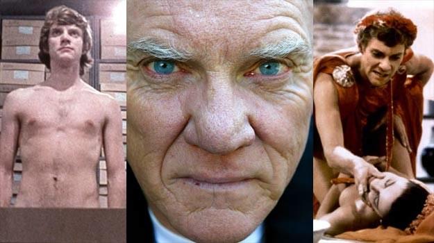 """Malcolm MacDowell w swych najsłynniejszych rolach: w """"Mechanicznej pomarańczy"""" (L) i """"Kaliguli"""" (P) /Getty Images/Flash Press Media"""