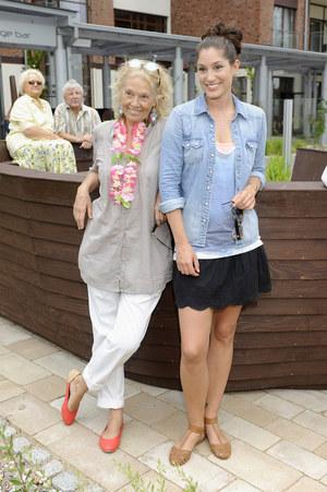 Małgorzata Braunek na planie serialu spotkała się ze swoją córką Oriną Krajewską /  /AKPA