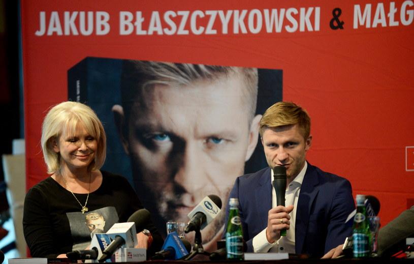 Małgorzata Domagalik i Jakub Błaszczykowski. /Bartłomiej Zborowski /PAP