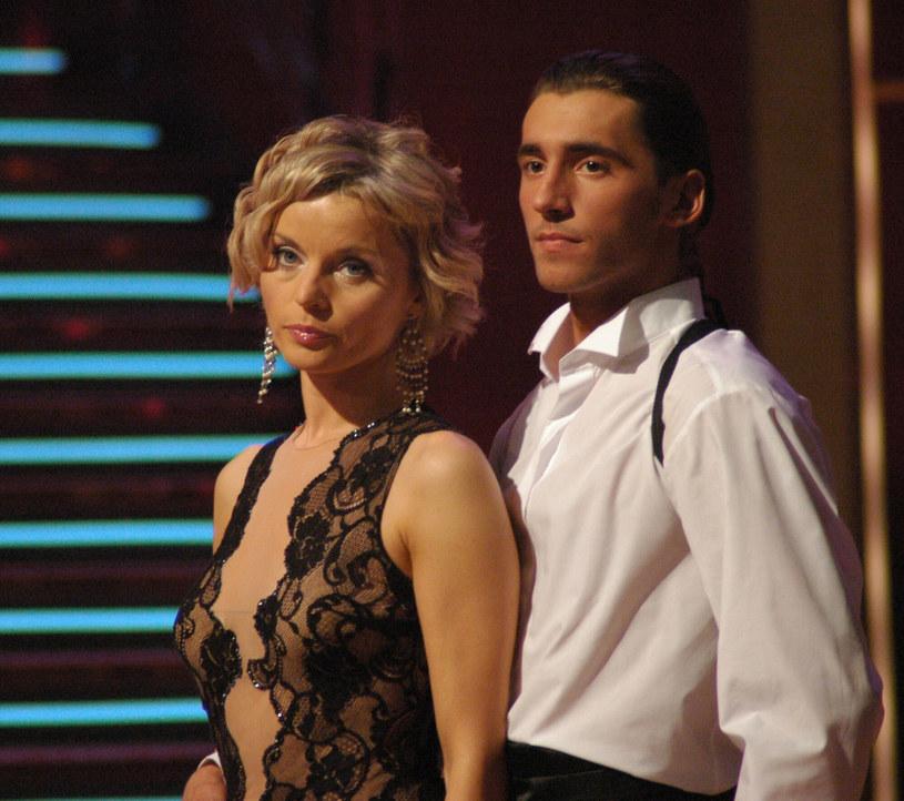 """Małgorzata Foremniak i Rafał Maserak podczas show """"Taniec z Gwiazdami"""" - rok 2005 /Tricolors /East News"""