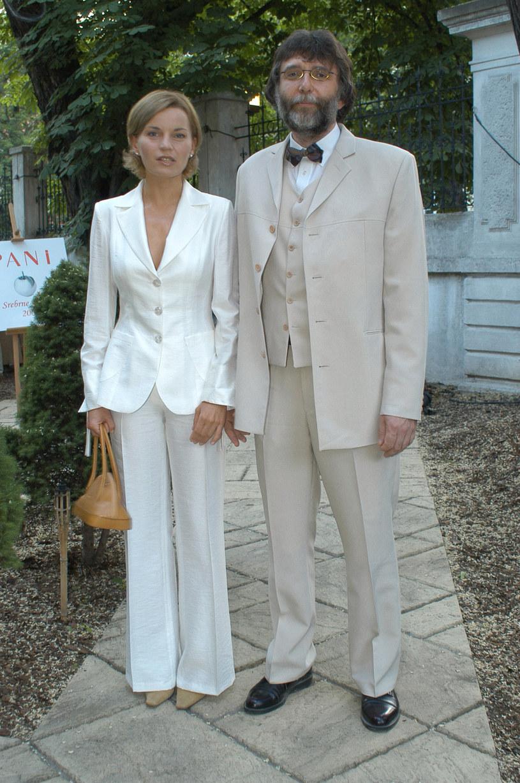 Małgorzata Foremniak i Waldemar Dziki, 2003 rok /Prończyk /AKPA