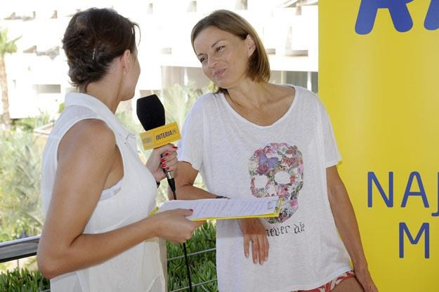 Małgorzata Foremniak w rozmowie z INTERIA.PL podczas finału Przeboju Lata 2014 /AKPA