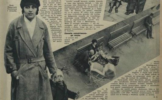 """Małgorzata Genzlerowa z rodziną - """"Tajny Detektyw"""" z 10 kwietnia 1932 roku /Mazowiecka Biblioteka Cyfrowa /domena publiczna"""