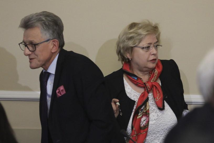 Małgorzata Gersdorf i Stanisław Piotrowicz /Tomasz Gzell /PAP