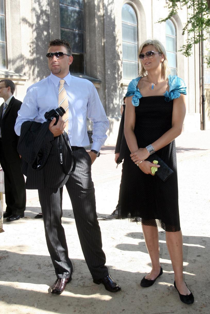 Małgorzata Glinka-Mogentale z mężem Robertem /Robert Szwedowski /East News