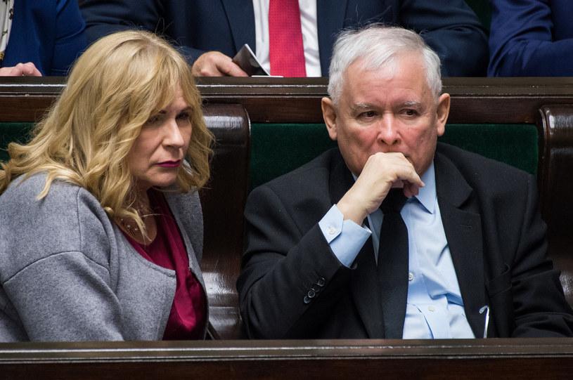Małgorzata Gosiewska i Jarosław Kaczyński /Jacek Domiński /Reporter