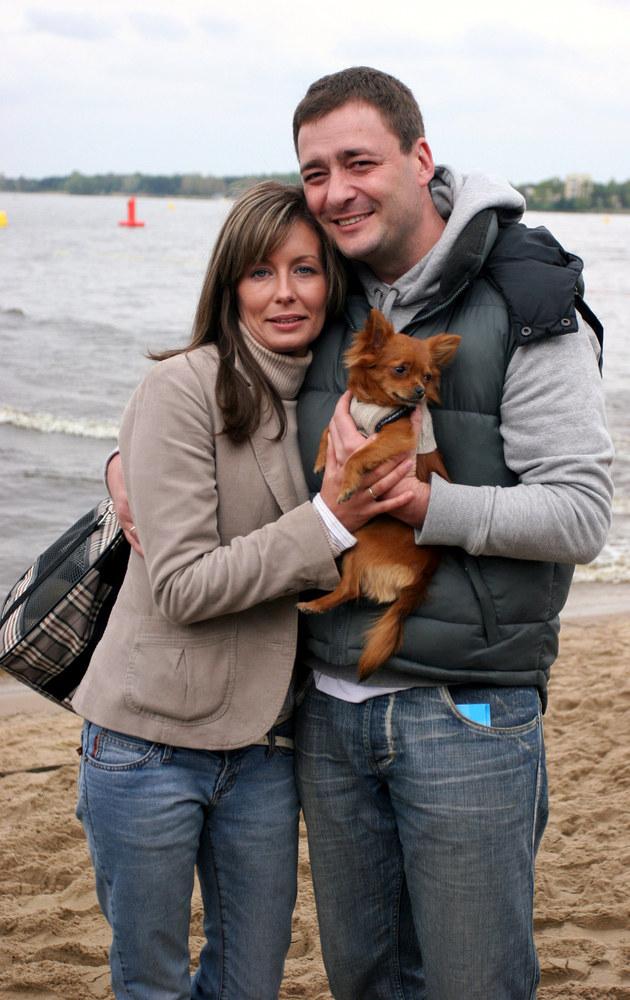 Małgorzata i Jacek Rozenkowie, 2005 r. /Warda /AKPA
