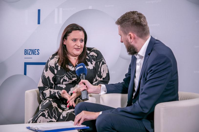 Małgorzata Jarosińska-Jedynak, wiceminister funduszy i polityki regionalnej w studiu Interii /Fot. Ireneusz Rek /INTERIA.PL