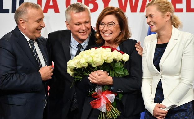 Małgorzata Kidawa-Błońska, Grzegorz Schetyna, Barbara Nowacka /Piotr Nowak /PAP