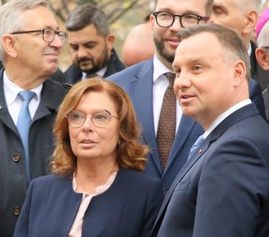 Małgorzata Kidawa-Błońska i Andrzej Duda /Piotr Molecki /East News