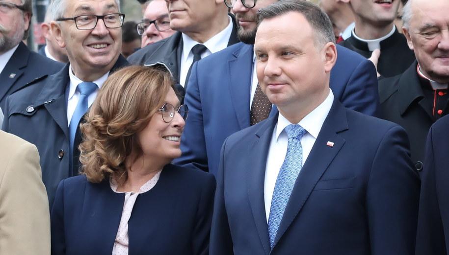 Małgorzata Kidawa-Błońska i Andrzej Duda / Tomasz Gzell    /PAP