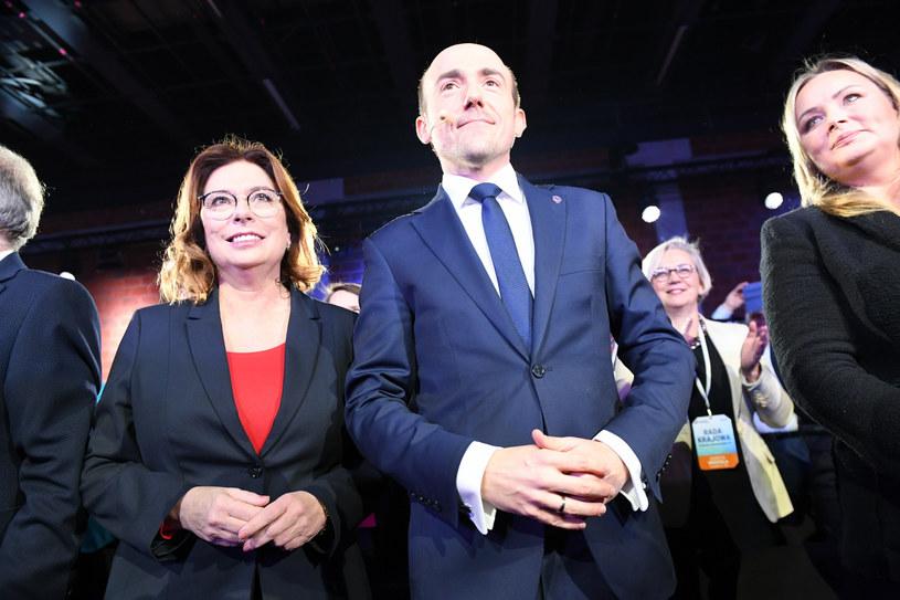 Małgorzata Kidawa-Błońska i Borys Budka podczas Rady Krajowej PO /Jacek Dominski/ /Reporter