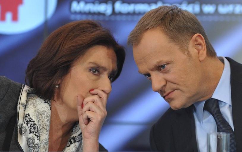 Małgorzata Kidawa-Błońska i Donald Tusk /Witold Rozbicki /Reporter
