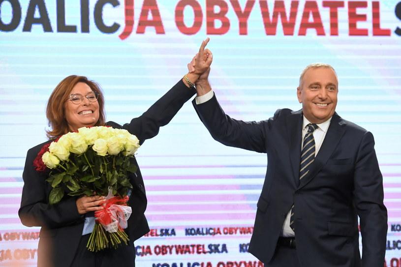Małgorzata Kidawa-Błońska i Grzegorz Schetyna /Piotr Nowak /PAP