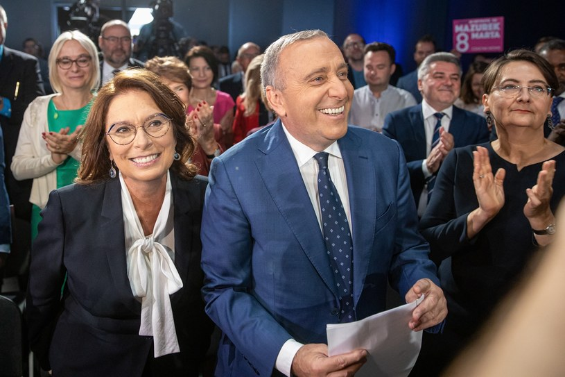 Małgorzata Kidawa-Błońska i lider PO Grzegorz Schetyna /Jakub Walasek /Reporter